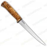 """Нож """"Белуга"""". Рукоять стабилизированная карельская береза. Пила"""