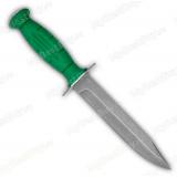 """Нож """"Вишня"""" НР-43 зеленая. Рукоять квартопрен. Разборная. Пескоструйная обработка клинка"""