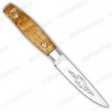 """Нож """"Овощной малый"""". Цельнометаллический. Карельская береза"""