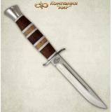"""Нож """"Финка-2"""". Рукоять комбинированная: орех, карельская береза, оргстекло. Алюминий"""