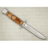 """Нож """"Финка-2"""". Рукоять комбинированная: карельская береза, фибра. Алюминий"""