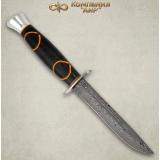 """Нож """"Финка-2"""". Дамаск. Рукоять комбинированная: граб, фибра. Алюминий"""