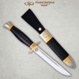 """Нож """"Финка-2"""" подарочная. НКВД. Рукоять граб. Комбинированные ножны"""
