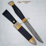 """Нож """"Финка-2"""" подарочная. НКВД. Рукоять граб. Дамаск. Комбинированные ножны"""
