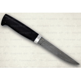 """Нож """"Финка-5"""". Рукоять граб. Алюминий. Белый дамаск"""