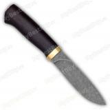 """Нож """"Пилигрим"""". Рукоять граб. Латунь. Обработка клинка """"стоунвош"""""""