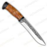 """Нож """"Шаман-1"""". Рукоять березовый кап"""