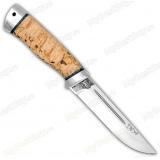 """Нож """"Бекас"""". Рукоять карельская береза. Алюминий"""