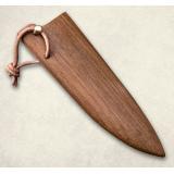 """Нож """"Овощной малый"""" - деревянные ножны к ножу. Орех"""