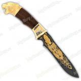 """Нож подарочный «Кардинал». Сюжет """"Пантера"""". Булат"""