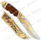 """Нож подарочный """"Пума"""". Металлические ножны. Сюжет """"Волки"""""""
