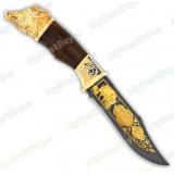 """Нож подарочный """"Тайфун"""". Сюжет """"Кабан"""". Булат"""