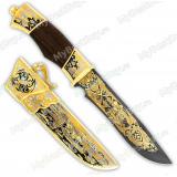 """Нож подарочный «Златоуст». Сюжет """"Утиная охота"""". Булат"""