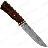 Нож-16. Клинок белый дамаск