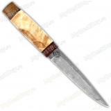 """Нож """"НС-42"""". Рукоять кап. Белый дамаск"""
