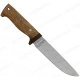 """Нож """"НС-16"""". Рукоять дерево. Клинок белый дамаск"""