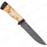 """Нож """"НС-27"""". Клинок белый дамаск. Рукоять карельская береза"""