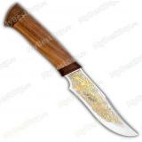 """Нож """"Багира 2"""". Рукоять дерево. Позолота"""