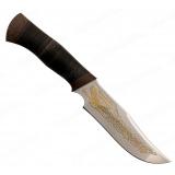 "Нож ""Багира"". Рукоять кожа. Клинок позолота"