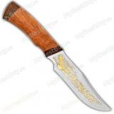 "Нож ""Багира"". Рукоять дерево. Клинок позолота"