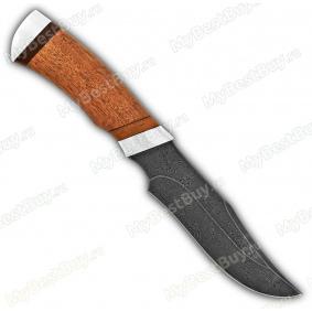 """Нож """"Багира"""". Рукоять дерево. Дамаск. Алюминий"""