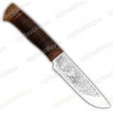 """Нож """"Легенда 2"""". Рукоять кожа"""