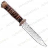 """Нож """"Пилигрим-3"""". Рукоять кожа. Пила"""