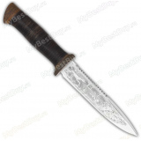 """Нож """"Диверсант"""". Рукоять кожа. Пила"""