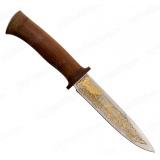 """Нож """"Диверсант"""". Рукоять дерево. Клинок позолота"""