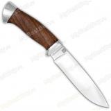 Нож кованый №1. 110х18м-шд. Рукоять орех, алюминий
