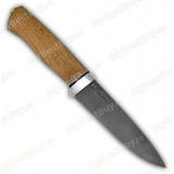 """Нож """"Попутчик""""-скинер. Булат Лапшина. Рукоять орех. Алюминий"""