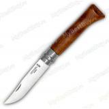 Складной нож Opinel №8. Нержавеющая сталь. Рукоять орех