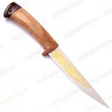 """Нож """"Амиго"""". Рукоять орех. Золочение клинка"""