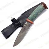 """Нож """"Артыбаш"""". Рукоять стабилизированный кап. Дамаск"""