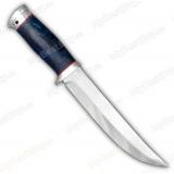 """Нож """"Атаман"""". Рукоять стабилизированный кап. Алюминий. Без гравировки"""