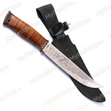"""Нож """"Атаман"""". Рукоять кожа"""