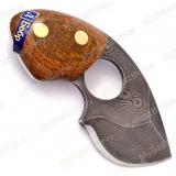 """Нож """"Бобр"""". Цельнометаллический. Дамаск. Рукоять текстолит"""