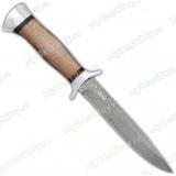 """Нож """"Разведчик"""". Дамаск. Рукоять орех. Алюминий"""