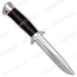 "Нож ""Разведчик"". Рукоять кожа. Алюминий. Без гравировки"
