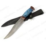 """Нож """"Волкодав"""". Рукоять кап стабилизированный. Дамаск"""