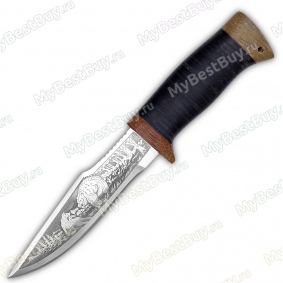 """Нож """"НС-34"""". Рукоять кожа"""