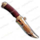 """Нож """"Попутчик"""". Вариант Люкс в металлических ножнах. Рукоять палисандр. Вариант 2"""