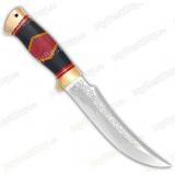 """Нож """"Дракула"""". Рукоять комбинированная люкс: стабил. карельская береза, граб. Латунь"""