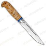 """Нож """"Финка Тайга"""". Рукоять карельская береза. Алюминий"""