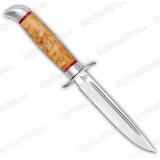 """Нож """"Финка Вачинская"""". Рукоять карельская береза. Алюминий"""