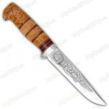 """Нож """"Гвардия"""". Рукоять комбинированная карельская береза, текстолит. Алюминий"""