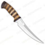"""Нож """"Гюрза"""". Рукоять комбинированная: карельская береза, орех, текстолит"""