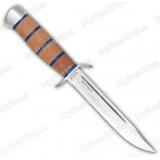 Нож разведчика. Рукоять комбинированная: бук, оргстекло. Алюминий