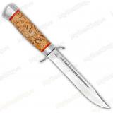 Нож разведчика. Рукоять карельская береза. Алюминий