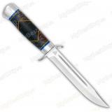 Нож разведчика. Рукоять комбинированная люкс: стабилизир. карельская береза. Алюминий